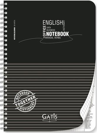 kołonotatnik A4 ze słownikiem angielskim BLACK&GREY PLASTIC (1)