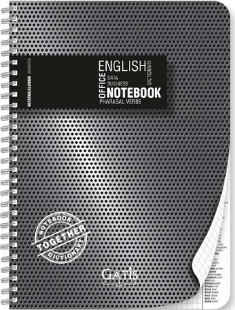 kołonotatnik A4 ze słownikiem angielskim BLACK&SILVER PLASTIC (1)
